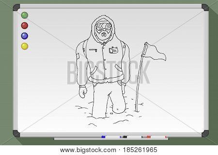 Hand Drawn Polar Explorer