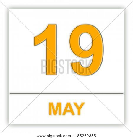 May 19. Day on the calendar. 3D illustration