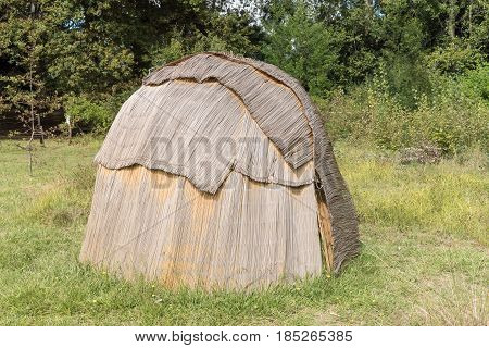 A Khoi hut at the Khoi kraal at the mission in Genadendal. Genadendal is the first mission station in South Africa founded 1738