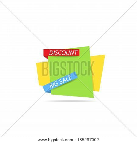 Template banner of discounts and sales. Vector illustration .