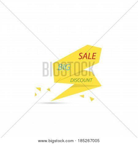 Big sale banner . Vector illustration .