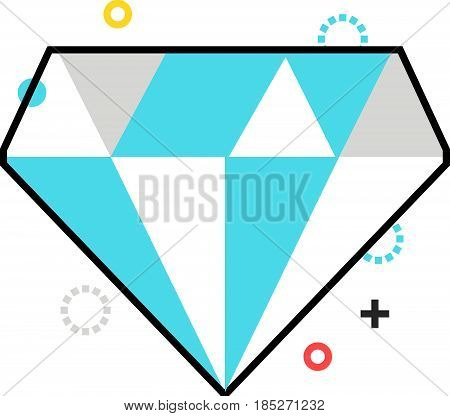 Color Box Diamond Icon, Background And Graphics