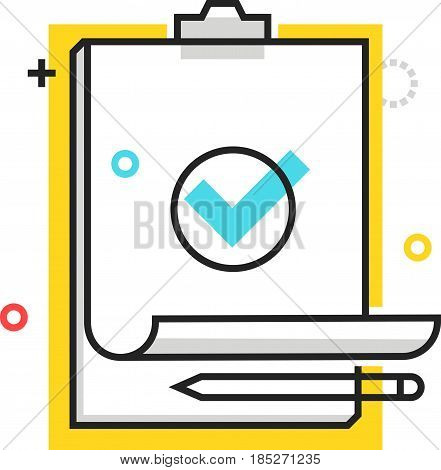 Color Box Check Mark Icon, Background And Graphics