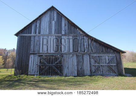 The outside of a barn. Sleeping Bear Dunes National Lakeshore,, Michigan