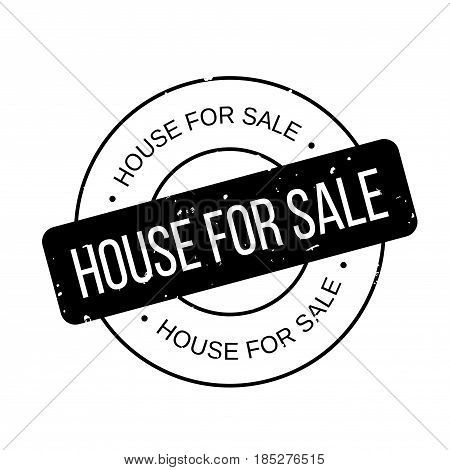 House For Sale rubber stamp. Grunge design with dust scratches. Effects can be easily removed for a clean, crisp look. Color is easily changed.