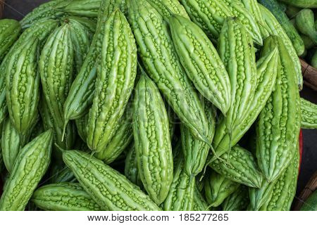 Momordica charantia for sale in Can Tho market, Viet Nam