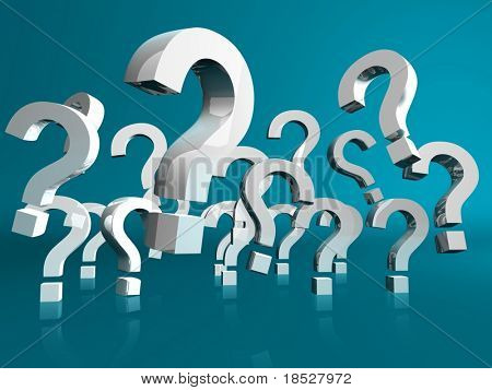Question Marks Flying poster