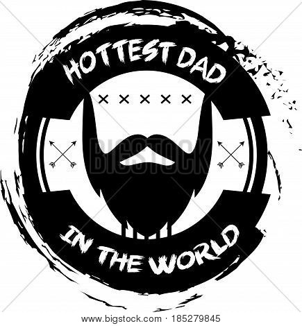 hottest dad in the world vector illustration