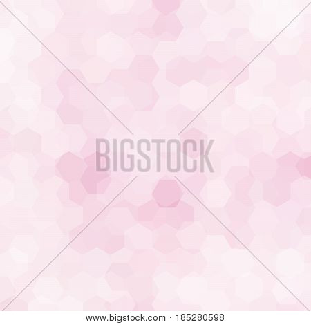 Abstract Hexagons Vector Background. Pastel Pink Geometric Vector Illustration. Creative Design Temp