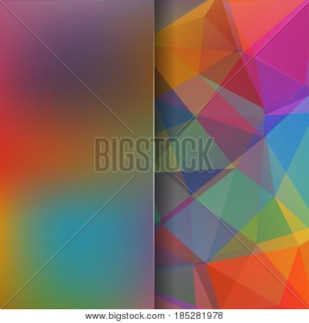 Colorful Polygonal Vector Background. Blur Background. Can Be Used In Cover Design, Book Design, Web