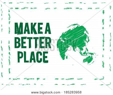 make a better place go green eco vector illustration