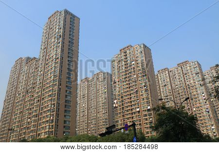 Residential apartment urban density in Hangzhou China