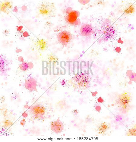White canvas stained by artistic watercolour splotches