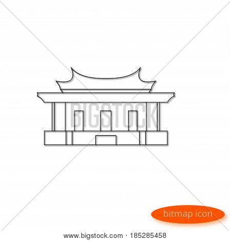 A Simple Illustration Of A Shadow Casting Line Representing A Symbol Of Chinese Philosophy - The Tem