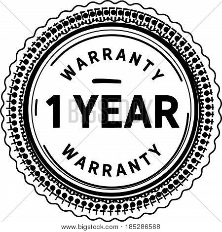 1 year warranty vintage grunge rubber stamp guarantee background