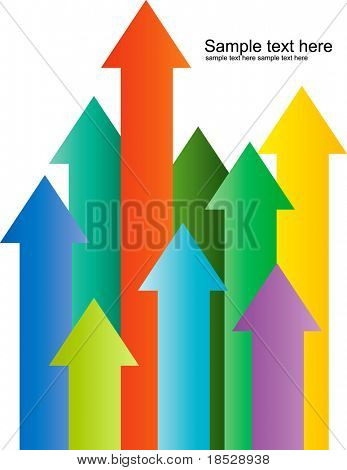 Arrow pointing up illustration vector
