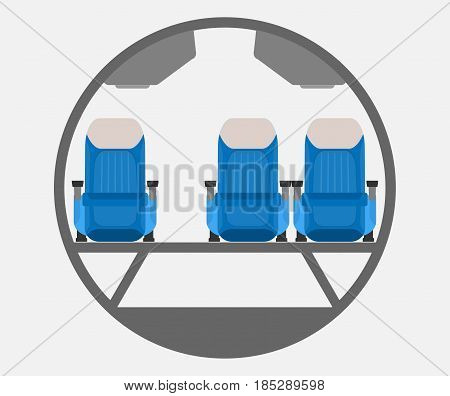 Narrow Body Airplane Cross Section Vector