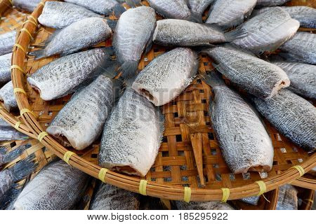 Snakeskin Gourami Fish Dried In Market