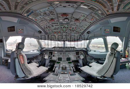 a300 jetliner cockpit