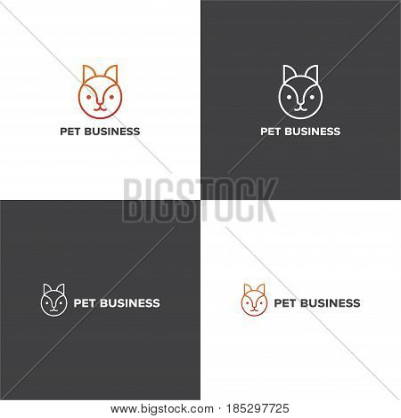 Vector eps logotype about pet business company in eps 10 horizontal and vertical view