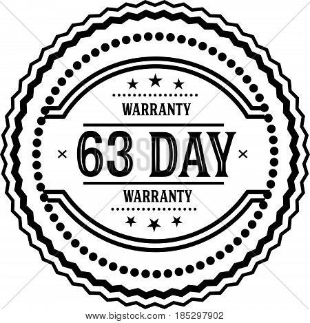 63 day warranty vintage grunge rubber stamp guarantee background poster