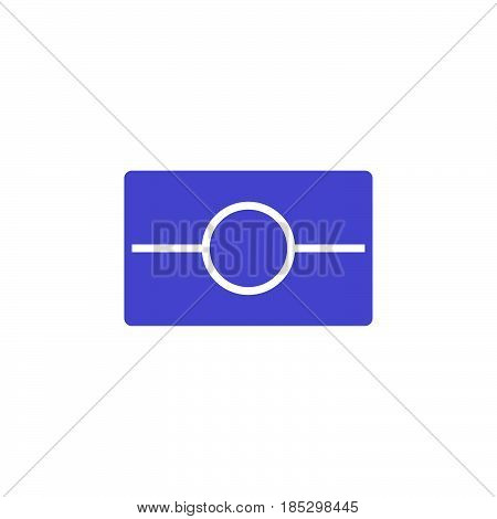 Biometric Passport Symbol. Epassport Icon Vector, Filled Flat Sign, Solid Colorful Pictogram Isolate