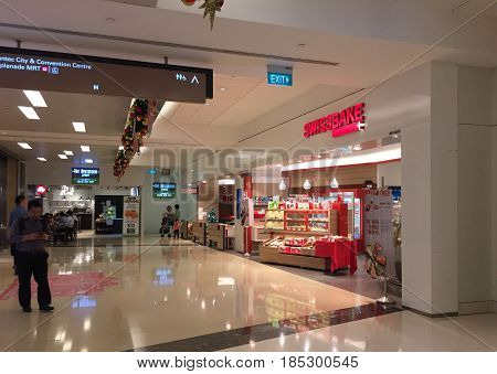 Inside Of Marina Shopping Mall In Singapore