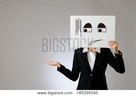 Embarrassed Illustrate And Promoting Gesture