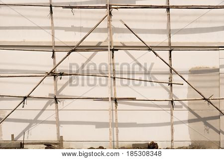 Bamboo Scaffolds for construction job. It's made us easy to climbing onto a parts of the building.