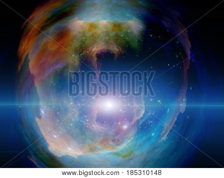 Universe in vivid colors.   3D rendering  Some elements provided courtesy of NASA
