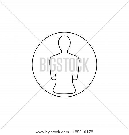 User icon vector lined icon add a friend contacts icon black and white
