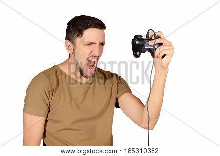 Man Playing Videogames.