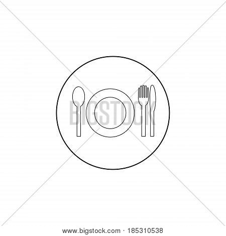 Dish fork and knife icon vector solid illustration pictogram isolated