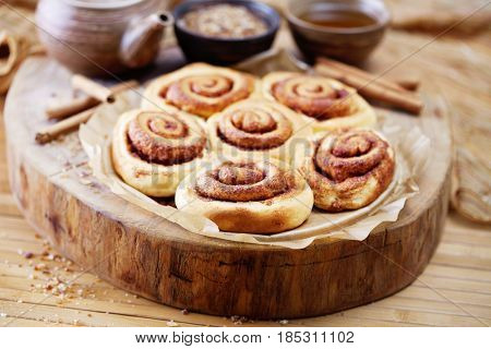 homemade delicious cinnamon rolls - sweet food