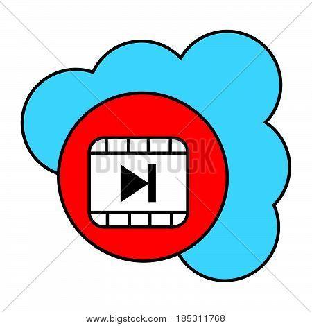 Flat Color Cloud Next Icon