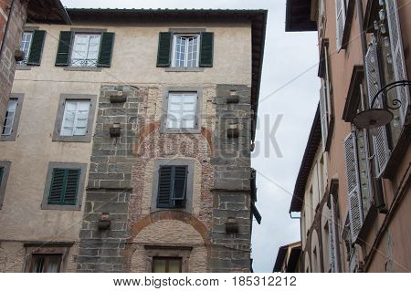 Fragment Of Old Building In Lucca. Italy.