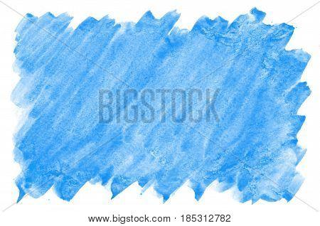Colorful Blue Green Turquoise Watercolor Background For Wallpaper. Aquarelle Bright Color Illustrati