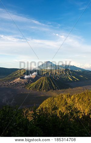 Mount Bromo Volcanoes In Bromo Tengger Semeru National Park, East Java, Indonesia.