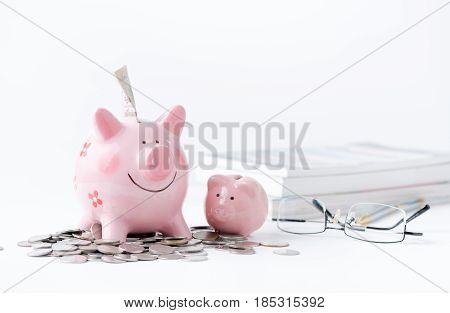 Education Money Savings In A Piggybank