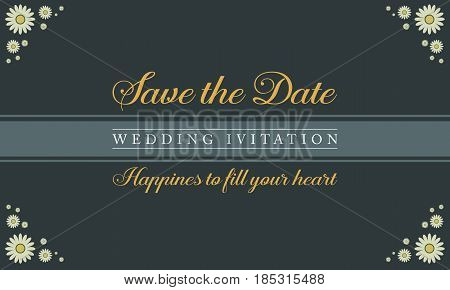 Collection stock of wedding invitation card vector illustration
