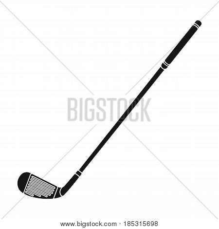 Putter for golf.Golf club single icon in black style vector symbol stock illustration .