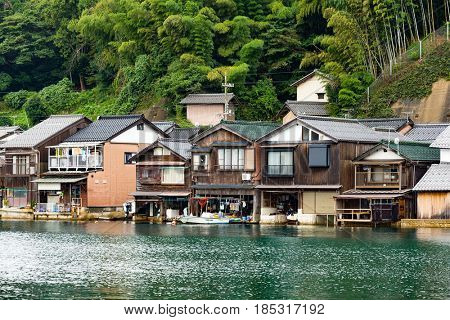 Traditional house in Ine cho of Kyoto of Japan