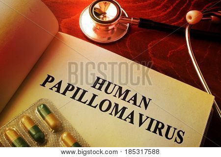 Book with title Human papillomavirus (HPV) infection.