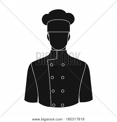 Chef.Professions single icon in black style vector symbol stock illustration .