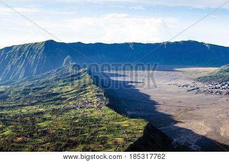 Village At Mount Bromo In Bromo Tengger Semeru National Park, East Java, Indonesia