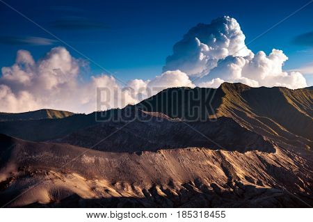 Mount Bromo Volcanoes In Bromo Tengger Semeru National Park, East Java, Indonesia