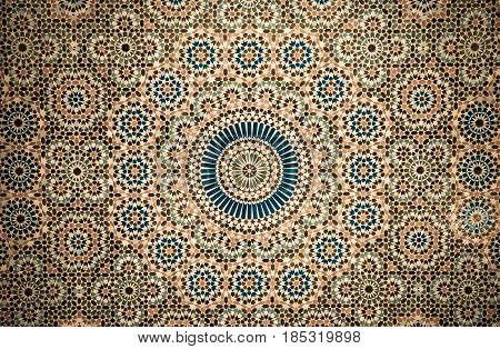 Highly detailed image of moroccan tile background