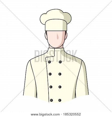 Chef.Professions single icon in cartoon style vector symbol stock illustration .