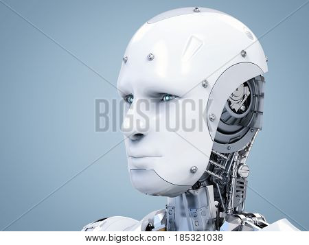 Cyborg Face Or Robot Face
