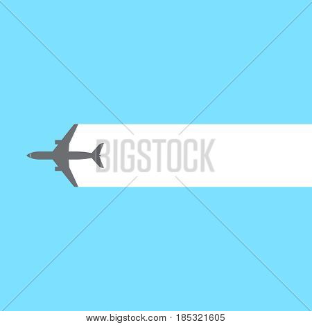 Airplane stream background. Vector illustration eps 10